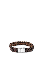 Thompson Braided Bracelet - BROWN