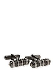 Thompson Cylinder Turbine Cufflinks - GREY
