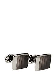 Thompson Steps Cufflinks - BLACK