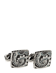 Thompson Psychedelic Cufflinks - BLACK AND GREY