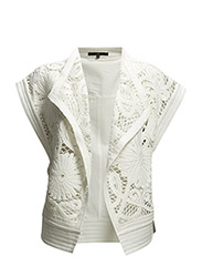 WOVEN MOTORCYCLE VEST - IVORY