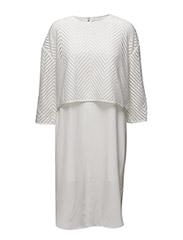WOVEN 3/4 SLV BLANCA DRESS - IVORY