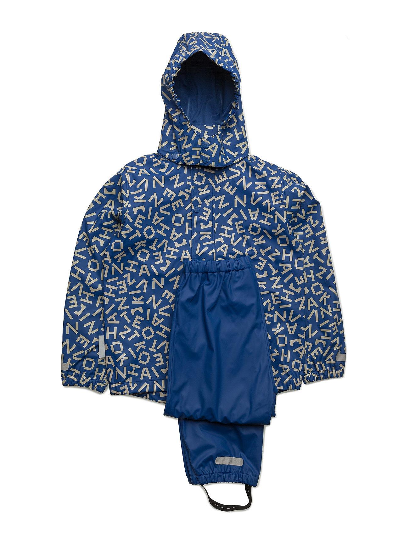 Rain Set 2pcs Rubber With Detachable Hood Allover Ticket to Heaven Overtøj til Børn i