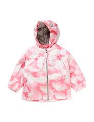 Komma baby jacket, water resistance 5.000 mm. - Pink sky print