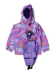 Rubber rain set, water resistance 8000mm. - Dahlia purple star