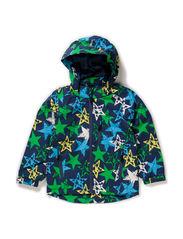 Klaus jacket, water resistance 6.000 mm. - marine blue green star