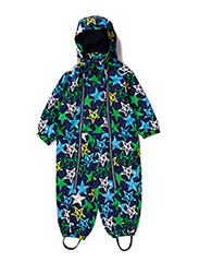 Nell baby suit, water resistance 6.000mm - marine blue green star