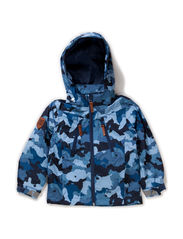 Konrad jacket, water resistance 5.000 mm. - Blue camuflage