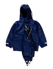 Authentic rubber rain set, water resistance 8.000 mm. - Marine blue