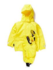 Authentic rubber rain set, water resistance 8.000 mm. - Sharp lemon