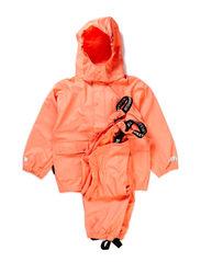 Authentic rubber rain set, water resistance 8.000 mm. - Thermal orange