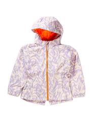 Kicki jacket, water resistance, 6.000 mm. - Pastel violet pattern