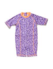 Laguna sun suit - Dahlia purple dot