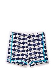 Junior swim shorts - blue/white star/stripe