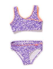 Komi swim set - Dahlia purple dot