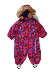 Snowbaggie suit - Purple animal print