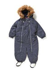 Snowbaggie suit - Navy grid print
