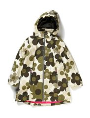 Nora coat - Army flowers