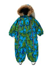 Snowbaggie suit - Navy animal print