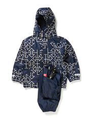 Rubber rain set - Navy arrow print