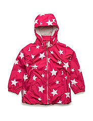 Jacket Althea with detachable hood allover - ROSE RED / RED