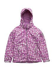 Jacket Mikaela with detachable hood DFJ allover - VILOET / ROSE