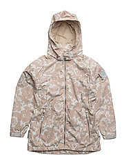 Jacket Kelly with detachable hood allover - WHISPER WHITE / WHITE