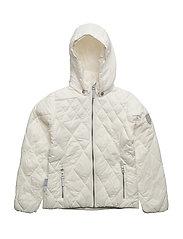 Jacket Lightweight Padding Comerzo with detachable hood - WHISPER WHITE / WHITE