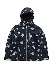 Jacket Kethil with detachable hood allover - TOTAL ECLIPSE / BLUE