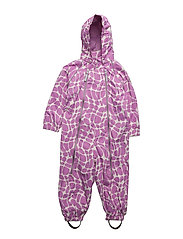Suit Nell with detachable hood allover - VILOET / ROSE