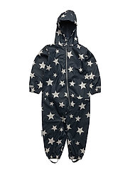 Rain suit Kody Rubber with detachable hood allover - TOTAL ECLIPSE / BLUE
