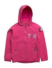 Jacket Softshell Kristar with detachable hood - MAGENTA / PINK