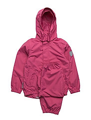 Rain set 2pcs Plain with detachable hood - MAGENTA / PINK