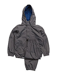 Rain set 2pcs Plain DFJ with detachable hood - CASTLEROCK / GRAY