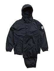 Rain set 2pcs Plain DFJ with detachable hood - TOTAL ECLIPSE / BLUE