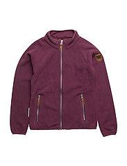 Mallory fleece jacket 1/1 sleeves - AMARANTH