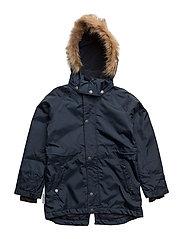 Mardea Coat with detachable hood - TOTAL ECLIPSE