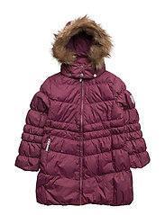Marilyn down jacket with detachable hood - AMARANTH