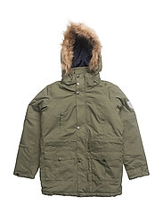 Maron parka with detachable hood - FOUR LEAF CLOVER