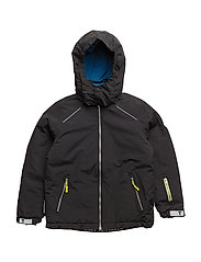 Conrad jacket with detachable hood - JET BLACK