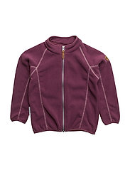 Matie fleece jacket 1/1 sleeves - AMARANTH