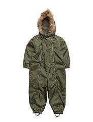 Suit snowbaggie with detachable hood - FOUR LEAF CLOVER