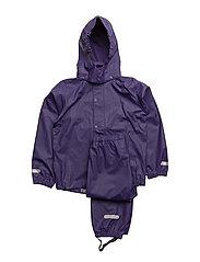 Rain set 2pcs Authentic rubber with detachable hood - PARACHUTE PURPLE