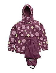 Rain set 2pcs Rubber with detachable hood - AMARANTH