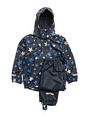 Rain set 2pcs Rubber with detachable hood - PROVENCE