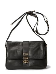 Manon Folded Bag Leather - Noir