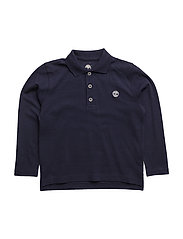 LONG SLEEVE POLO - NAVY