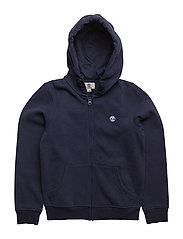 HOODED CARDIGAN - NAVY