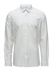 LS Milford Solid Oxford - SLIM - WHITE OXFORD