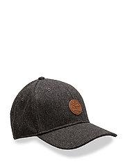 COLOR BLOCK TWEED CAP - CHARCOAL